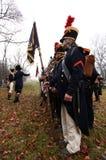 La battaglia di Austerlitz Fotografia Stock