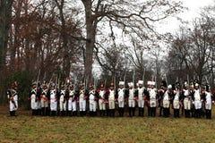 La battaglia di Austerlitz Immagini Stock