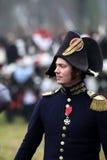 La battaglia di Austerlitz, anche conosciuta come la battaglia dei tre imperatori, era una di più grandi vittorie del millefoglie Immagine Stock