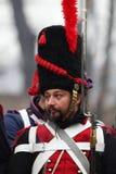 La battaglia di Austerlitz, anche conosciuta come la battaglia dei tre imperatori, era una di più grandi vittorie del millefoglie Fotografia Stock Libera da Diritti