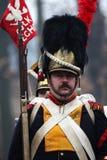 La battaglia di Austerlitz, anche conosciuta come la battaglia dei tre imperatori, era una di più grandi vittorie del millefoglie Immagini Stock