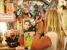 La batte blonde Photos stock