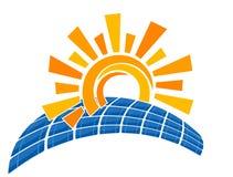 La batteria solare Fotografia Stock Libera da Diritti