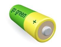 La batteria va verde Fotografia Stock