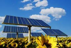 La batterie solaire Photo libre de droits