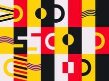 La Bauhaus progetta il modello senza cuciture Stile di Memphis degli elementi geometrici retro Vettore illustrazione vettoriale