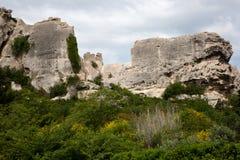 La Baux-de-Provenza - Alpilles - la Provenza - la Francia Fotografia Stock