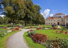 La Bavière, l'Allemagne - le palais de Lustheim et le jardin baroque Image libre de droits