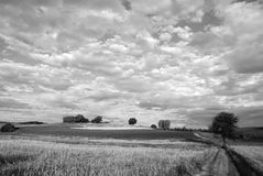 La Baviera in in bianco e nero Immagini Stock