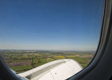 La Baviera dalla finestra dell'aeroplano Fotografie Stock