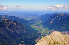 La Baviera dallo Zugspitze Fotografia Stock Libera da Diritti