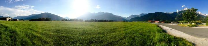 La Baviera del paesaggio Fotografie Stock Libere da Diritti