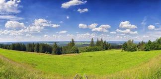 La Baviera di immagine di panorama Immagini Stock Libere da Diritti