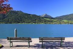 La Baviera di Tegernsee del lago Fotografia Stock