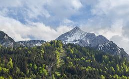 La Baviera Germania di Alpspitze Garmisch-Partenkirchen Fotografia Stock