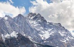 La Baviera Germania di Garmisch-Partenkirchen di panorama di Zugspitze Immagine Stock