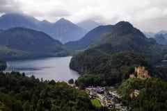 La Baviera Germania di Hohen Schwangau del castello Fotografie Stock Libere da Diritti