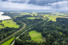 La Baviera panoramica di vista aerea Fotografia Stock Libera da Diritti