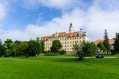 La Baviera trasversale santa del monastero di Donauwörth fotografia stock