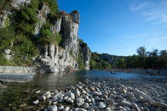 La Beaume, france. River in La Beaume, france Royalty Free Stock Images