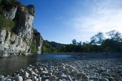 La Beaume, France. Rivershore in La Beaume, France Stock Photography