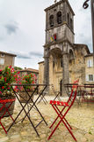 La beaume village in the Ardeche river Royalty Free Stock Image