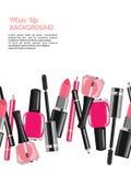 La beauté composent le fond abstrait de cosmétiques Photo stock