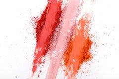 La beauté, cosmétiques de maquillage, rougissent palette d'éclaboussure Images libres de droits