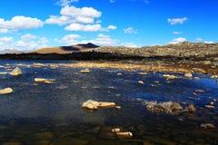 La beauté d'automne du plateau du Qinghai Thibet Photographie stock
