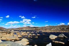 La beauté d'automne du plateau du Qinghai Thibet Photo stock