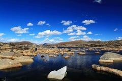La beauté d'automne du plateau du Qinghai Thibet Image libre de droits
