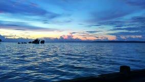 La beauté d'un coucher du soleil photographie stock libre de droits