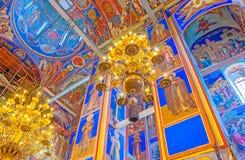 La beauté de la cathédrale de nativité de Suzdal Photographie stock