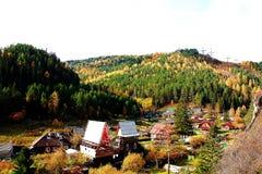 La beauté de l'automne dans un petit village Photos stock