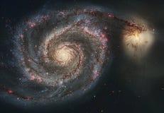 La beauté de l'univers : Galaxie énorme et détaillée de tourbillon photo libre de droits
