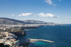La beauté de la côte d'Amalfi Photo libre de droits