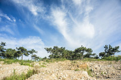 La beauté de la côte de Chine du Nord images libres de droits