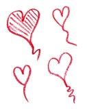 La beauté de rouge à lèvres composent l'amour de coeur Photo stock