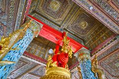 La beauté de Tharrawaddy Min Bell House, Shwedagon, Yangon, Mya images libres de droits