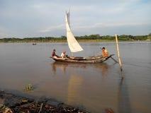La beauté des rivières bangladaises Photos stock