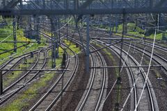 La beauté du chemin de fer Images libres de droits
