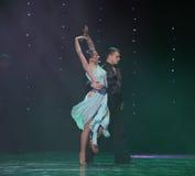 La beauté est dans la danse du monde de l'Autriche de danse-le de poitrine-flamant Image stock