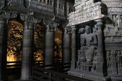 La beauté incroyable d'Ajanta dans le maharashtra images libres de droits