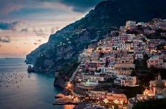La beauté de Positano Photographie stock libre de droits