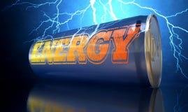 La bebida de la energía puede Imagenes de archivo
