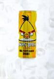 La bebida enojada de los pájaros puede Imagenes de archivo
