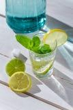 La bebida fría con hielo, los agrios y la menta hojean Foto de archivo