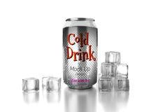 La bebida fría puede Imagen de archivo libre de regalías