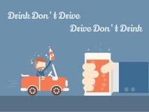 La bebida no conduce ilustración del vector