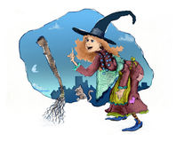 La Befana ! Photo stock